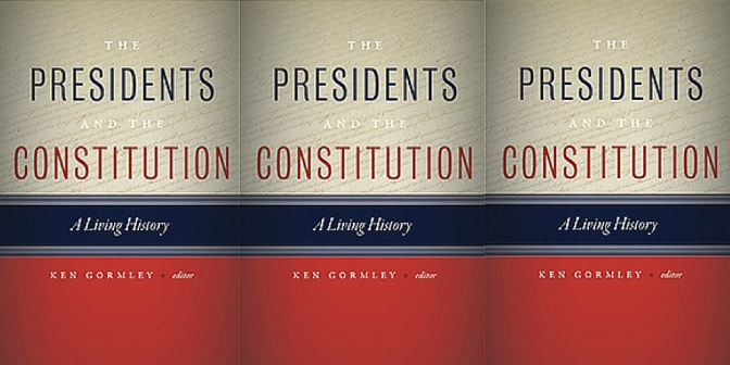NCJP Book Of The Month 'The Presidents And The Constitution'